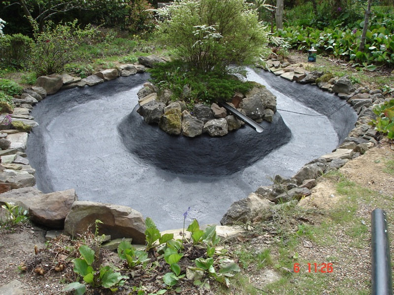 Repairs for fish ponds and waterfalls pond it for Natural koi pond